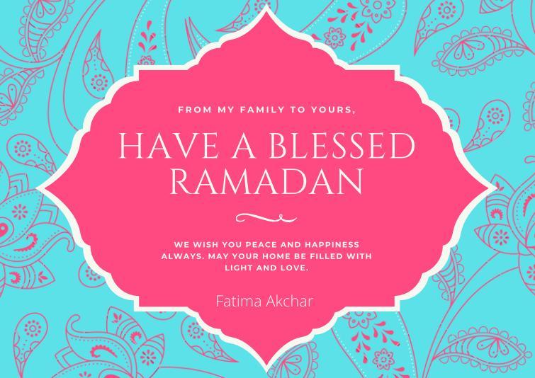 Blessed Ramadan